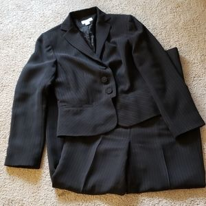 Ann Taylor Loft Career Black Pinstripe Suit